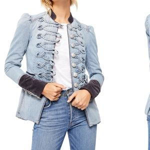 Free people seamed and structured denim jacket